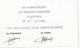 Marine Nationale CARTE DE VOEUX  Foyer De Cherbourg - Krieg