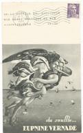 GANDON 5FR VIOLET SEUL GRANDE ET BELLE CARTE PUB LABORATOIRE DARRASSE NANTERRE SEINE 1953 AU TARIF - 1945-54 Marianne De Gandon