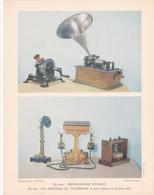 Chromo : Image Pédagogique : MUSIQUE : Phonographe D'EDISON  - Les Ancêtres Du Téléphone : ( Voir Description ) - Otros