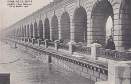 CRUE DE LA SEINE PARIS PONT NATIONAL LE 17 JANVIER 1910 REF 68595 - Arrondissement: 12