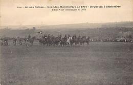 Armée Suisse - Grandes Manoeuvres De 1910 - Revue Du 3 Septembre - L'Etata-Major Commencant Le Défilé - Zonder Classificatie