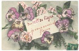 Cpa Militaire , 122e De Ligne, Fleurs & Paillettes, Postée Vers Lespignan ( Hérault )  ( MI ) - Altri