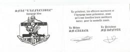 """Marine Nationale CARTE DE VOEUX L INFLEXIBLE  EQUIPAGE """"BLEU"""" - Krieg"""