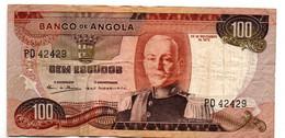 Angola  -  100 Escudos  24/11/1972   état  TB - Angola