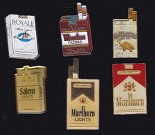 68372-Lot De 6 Pin's.Tabac.Cigarette.Marlboro.Salem.Winston.Camel.Royale. - Marcas Registradas
