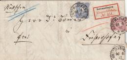 Allemagne Lettre Recommandée Gottmadingen 1877 - Lettres & Documents