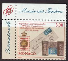MONACO - Exposition Internationale Lettres Et Documents Philatéliques - Y&T N° 2190 - 1999 - Ungebraucht