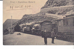 CPA Old Pc Norvege Myrdal Station Train Railway  Station Gare - Noruega