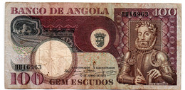 Angola  -  100 Escudos  10/06/1973   état  TB - Angola