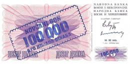 BOSNIE-HERZEGOVINE 1993 100000 Dinar - P.34b Neuf UNC - Bosnie-Herzegovine