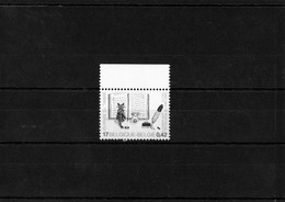 """Belgique 2000 - Journée Du Timbre """"Chat Et Chien Devant Un Livre""""  - Neuf ** MNH - Gatos Domésticos"""