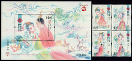 Macao - 2020 - Literature And Its Characters - Luo Shen Fu - Mint Stamp Set + Souvenir Sheet - Nuevos
