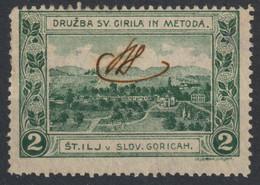 Šentilj V Slovenskih Goricah Society Cyril Methodius CHURCH LJUBLJANA Slovenia 1910 Yugoslavia Label Cinderella Vignette - Slovenië