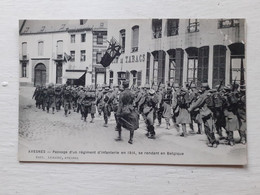 59 Avesnes- Passage  D'un Régiment D Infanterie En 1914 Se Rendant En Belgique - Avesnes Sur Helpe