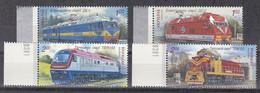 Md_ Ukraine 2010 - Mi.Nr. 1091 - 1094 - Postfrisch MNH - Eisenbahnen Railways Lokomotiven Locomotives - Treni