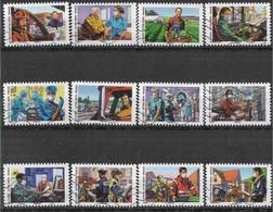 2020 FRANCE Adhesif Oblitérés, Covid, Tous Engagés, Série Complète - Adhesive Stamps