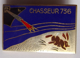 Insigne MARINE INDOCHINE CHASSEUR 736 - Marine