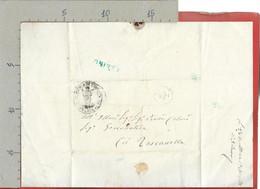 PREFILATELICA PONTIFICIO - 1860 Lettera TESSENNANO TOSCANELLA - Annullo CANINO E Sigillo - 1. ...-1850 Prephilately