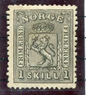 NORWAY 1868 Arms 1 Sk. Unused Without Gum (*). Michel 11 - Ungebraucht