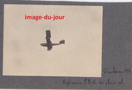 PHOTO ANCIENNE  AVIATION DUNKERQUE GUERRE 1914 1918  HYDRAVION F.B.A EN PLEIN VOL 1916  AÉRONAVALE MARITIME WWI - Aviazione