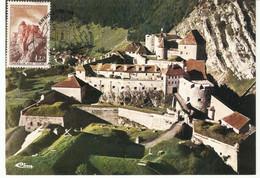 Carte Maximum Anniversaire Du H.D.P Pontarlier Chateau De JOUX ( 11/12 Oct  1986 )  (Timbre Yvert  1441) - 1980-89