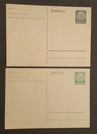 Luxemburg 1940, Postkarte P1-P2 Ungebraucht - Besetzungen 1938-45