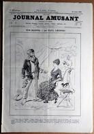 Le Journal Amusant N°1508 Du 25/07/1885 Promenade à Travers L'exposition D'Anvers Par Mars - Nos Marins Par Paul Léonnec - 1850 - 1899