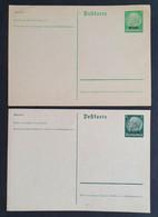 Elsass 1940, Postkarte P1-P2 Ungebraucht - Besetzungen 1938-45