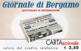 *CARTA AZIENDA 2° Tipo: GIORNALE DI BERGAMO - Cat. 647* - NUOVA (MINT) (FT) - Unclassified