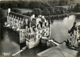 37 - Chenonceau - Le Château - Vue Aérienne - CPSM Grand Format - Carte Neuve - CPM - Voir Scans Recto-Verso - Chenonceaux