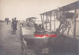 PHOTO ANCIENNE  1918  HYDRAVION DONNET DENHAUT A DUNKERQUE MARQUAGE INSIGNE ESCADRILLE AÉRONAVALE MARITIME Voir Verso - Aviazione