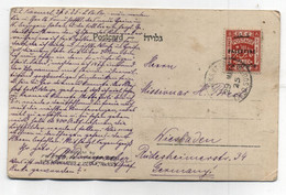 Palestine POSTCARD TO Germany 1925 - Palestina