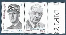 Diptyque Général De Gaulle BDF (2020) Neuf** - Ungebraucht