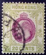 Hong Kong 1911 Edouard Edward VII Yvert 96 O Used - Gebraucht