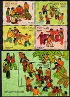 Vietnam - 2020 - Folk Games - Mint Stamp Set + Souvenir Sheet - Vietnam