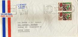 Ivory Coast Letter Via Germany 1969.machine Stamp Motive - Elephant,stamp Motive - 1967 Fruits - Côte D'Ivoire (1960-...)