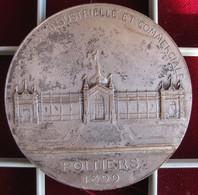 Médaille Applique Exposition Industrielle Et Commerciale De Poitiers 1899, Numéroté 01 - Other