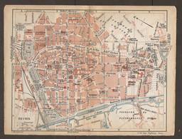 CARTE PLAN 1920 - REIMS - CAVE RUINART- CAVE Et PROPRIÉTÉ POMMERY - CAVES St MARCEAUX - CAVES G.H. MUMM - Carte Topografiche