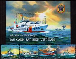 Vietnam - 2020 - Vietnam Seas And Islands - Coast Guard Ships - Mint Stamp Set + Souvenir Sheet - Vietnam