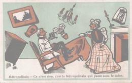 CHROMO BISCUITS GUILLOUT PARIS  METROPOLITAIN CE N'EST RIEN  C'EST LE METROPOLITAIN QUI PASSE SOUS LE SALON - Sonstige