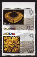 Colombia 2005 Pre-Hispanic Gold Artefacts. Jewelry. MNH - Colombia