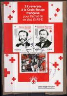 FRANCE Bloc 2020 (o) Sur Fragment : Henri DUNANT Gustave MOYNIER Croix-Rouge Française Collecte - Used