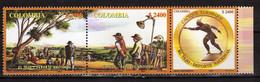 Colombia 2003 El Tejo, National Ball Game.strip Of 3.MNH - Kolumbien