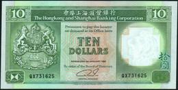 ♛ HONG KONG - 10 Dollars 01.01.1992 {Hong Kong & Shanghai Banking Corporation} UNC P.191 C - Hong Kong