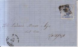 Año 1872 Edifil 121 10c Amadeo I Carta Matasellos Rombo Y Reus Tarragona Membrete Jose Elias - Cartas
