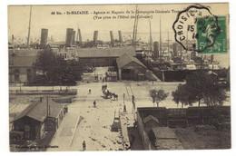 66 Bis  - SAINT NAZAIRE - Agence Et Magasin De La Compagnie Générale Transatlantique ( Vue Prise De L'Hotel Des Postes) - Saint Nazaire