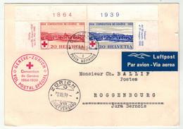 Suisse /Schweiz/Svizzera // Poste Aérienne // Carte Avec Le Vol Postal Genève-Zurich (Convention De Genève) - Other Documents