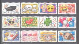 France Autoadhésifs Oblitérés N°1558/1569 (lignes Ondulées) (liquidation De Stock) - Adhesive Stamps