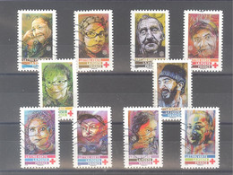 France Autoadhésifs Oblitérés N°1719 à 1728 (Série Complète : Croix-Rouge 2019) (lignes Ondulées) - Used Stamps