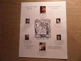 P.P. RUBENS - Bijzondere Reeks Postzegels Op Blad Geperst In Het Plantin Moretus Museum - Fdc Stempels - Drukkersmerk - Cartas Commemorativas